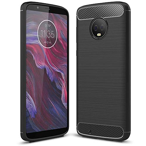 NALIA Silicone Case Compatible with Motorola Moto G6, Ultra-Thin Protective Phone Cover Rugged TPU Rubber-Case Gel Soft Skin, Shockproof Slim Back Bumper Protector Back-Case Smartphone Shell - Black