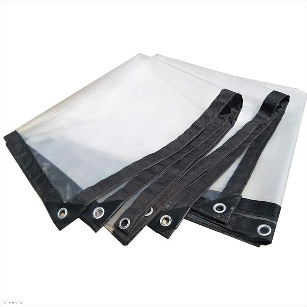 Z-P Tenda Parapioggia Ispessimento in Plastica Trasparente Parapolvere Vento Balcone Luce Telone Impermeabile Tenda Calda Protezione Solare (Dimensioni : 1.8x1.8m)
