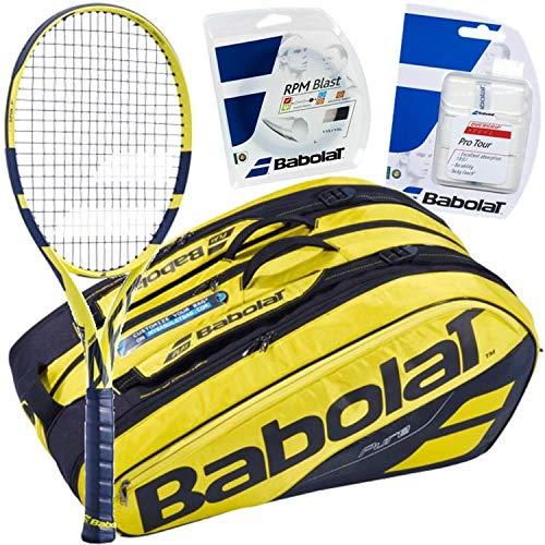 Rafael Nadal Pro Playerバボラテニスギアバンドルパック  4 1/2-Inch Grip