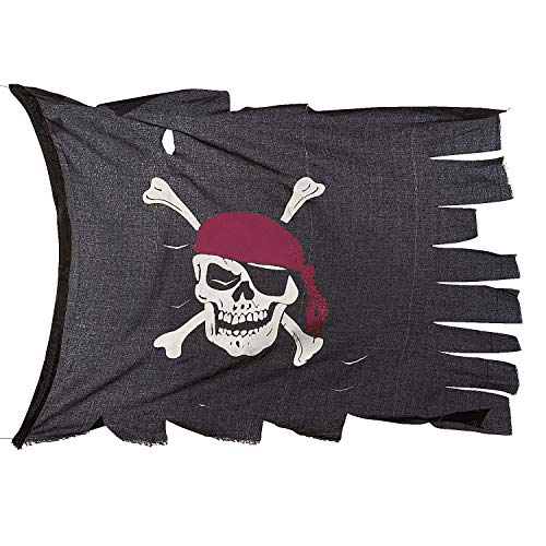 Fun Express - Creepy Cloth Pirate Flag for Halloween - Party Decor - General Decor - Flags - Halloween - 1 Piece