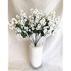 12 Baby's Breath MANY COLORS Gypsophila Silk Wedding Flowers Centerpieces 6