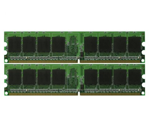 (NEW! 4GB PC2-6400 2 x 2GB DDR2 PC6400 800MHz Low Density Desktop Memory 4GB Kit)