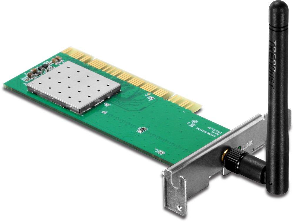 TRENDnet Wireless N150 Low-Profile USB Adapter, 150Mbps, 2dBi External Antenna, Support Windows XP/Vista/7/8, TEW-703PIL by TRENDnet