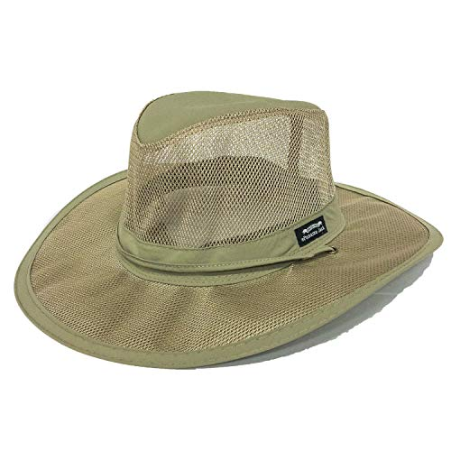Panama Jack Men's Mesh Safari Hat Medium Fossil