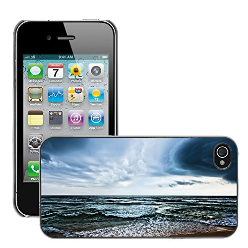Hülle Case Schutzhülle Cover Premium Case // V00002622 Strand // Apple iPhone 4 4S 4G