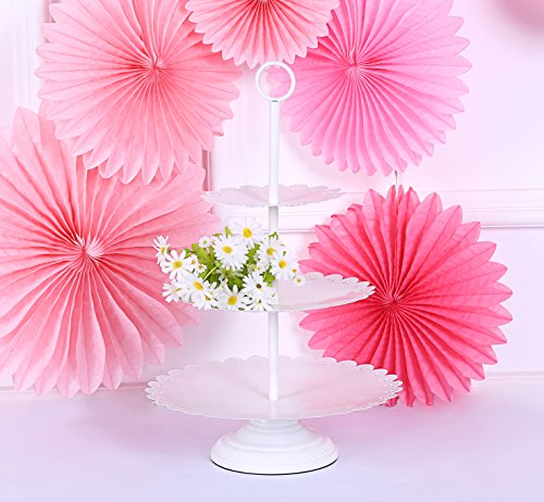 3 Tier Serving Platter Cupcake and Dessert Wedding Cake Stand