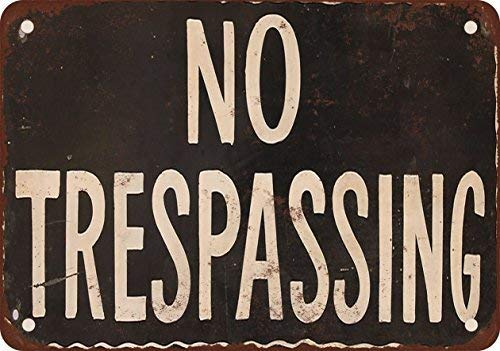 WallDector No Trespassing. We Have Guns and Shovels. Iron Poster Painting Tin Sign Vintage Wall Decor for Cafe Bar Pub Home Beer Decoration ()