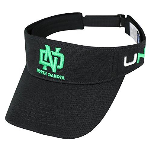 (Top of the World North Dakota State Bison Hawkeye Visor Hat - NCAA NDSU Adjustable Black Golf)