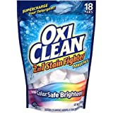 oxy clean stain fighter - OxiClean 2-in-1 Stain Fighter Power Paks Plus Color Safe Brightener Laundry Detergent Booster 18 paks (1)
