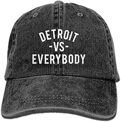 9e8d03184e4 Detroit VS Everybody Denim Hat Adjustable Women s Vintage Baseball Cap   Amazon.co.uk  Sports   Outdoors