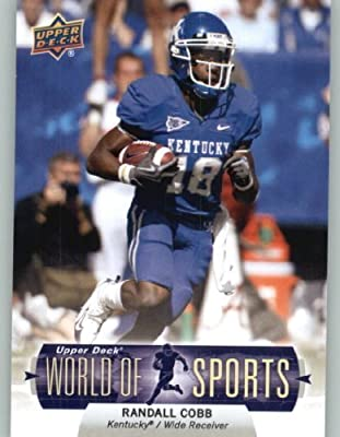 2011 Upper Deck World of Sports Baseball Trading Card #107 Randall Cobb - Kentucky Wildcats (NFL Football) (RC - Rookie Card)