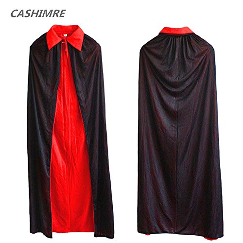 Teen Sweet Raccoon Girls Costumes (Wear 1.4m collar black cloak cloak Vampire Halloween Witch cloak cloak double sides)