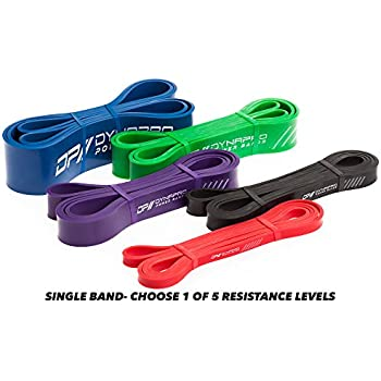 DYNAPRO LIMITED TIME OFFER Power Resistance Bands - Assisted Pull Up Band, Resistance & Stretch Band | Powerlifting Bands (BLACK)