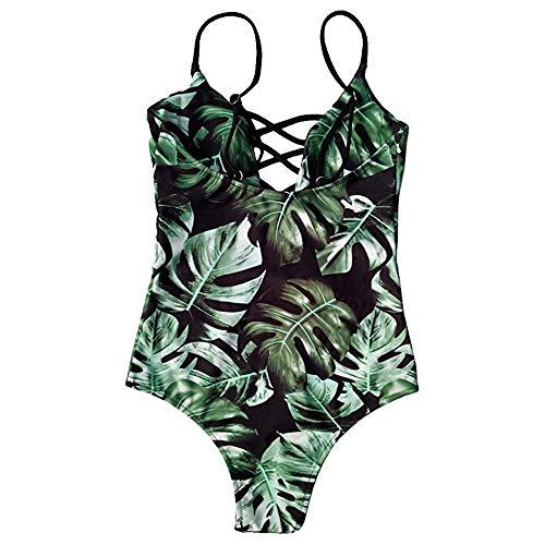 VECDY Bikini Damen Set Push up Sexy Einteiliger Badeanzug Bademode Floral Monokini Push Up Bikini Beachwear Badebekleidung Oberteil Unterwäsche BH Bademode Grün dJNH8daL kostengünstig