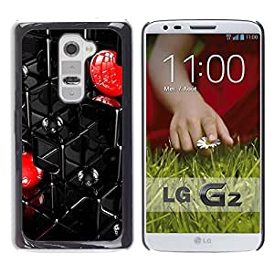 LASTONE PHONE CASE / Slim Protector Hard Shell Cover Case for LG G2 D800 D802 D802TA D803 VS980 LS980 / Abstract Grid