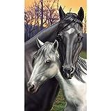 Toalla DE playa, diseño DE pareja DE caballos