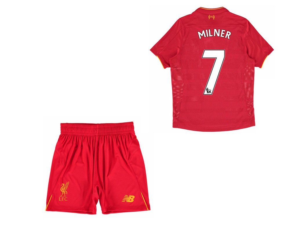 finest selection c9ac1 b9c3e Liverpool FC 7 James Milner Home Football Soccer Jersey ...