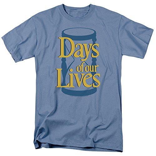 Days of Our Lives Hourglass Men's Regular Fit T-Shirt XL Light Blue