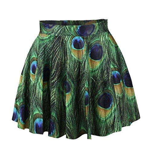 YICHUN Femme Fille Mini Jupe Court Jupe de Plage Jupon Impression Jupe de Soire Skirt Shorts 10#