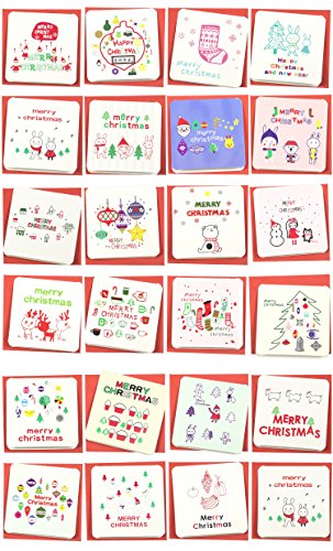 24 Pack Mini Christmas Greeting Cards & Envelopes, Cute Stweety Small Size 3