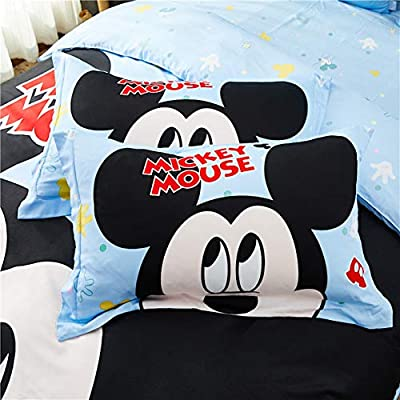 Peachy Baby Featuring Disney Mickey Mouse Bedding Sheet Set Single Queen Twin Full Size【100% Cotton】【Free Express Shipping】 Cool Cartoon 3 and 4 Pieces Bed Sheets (Queen Size): Home & Kitchen