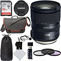 Tamron 24-70mm F/2.8 G2 Di VC USD SP Zoom Lens (for Canon Cameras 6 Year Limited USA Warranty), Sandisk Ultra SDHC 32GB Memory Card, Polaroid 82mm Filter Kit, Lowepro Passport Bag and Accessory Bundle
