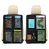 Fincy Palmoo Premium Quality Kick Mats Car Seat Back Protectors Back of Seat Organizers- Seat Covers For The Back Of Your Seat 2 Pack, waterproof organizer kick mats