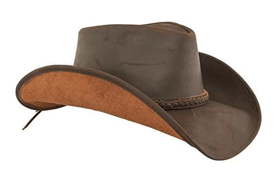 Lucky Trails Lucas Braided Band Brown Leather Cowboy Western Hat (Extra  Large 0ef7a72ffde6