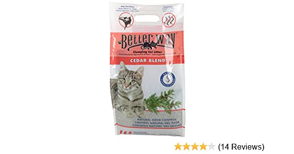 Amazon.com: Better Way Cedar Formula Clumping Bentonite Cat Litter with Sanel Cat Attractant - pack of 3: Pet Supplies