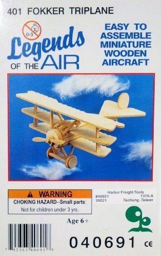 Legends of the Air Miniature Wooden Aircraft - 401 Fokker Triplane