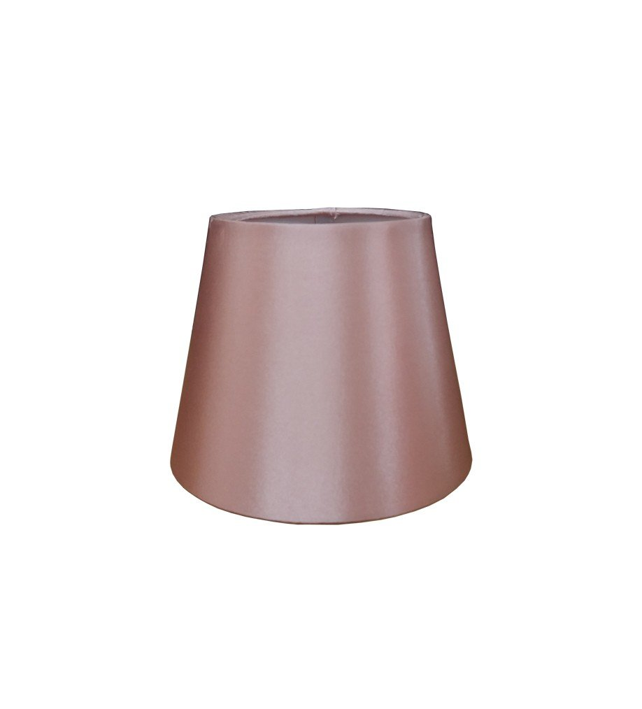 "Coco 6"" Rose Gold Clip On Faux Silk Lampshade CT Lighting 6ESWH"