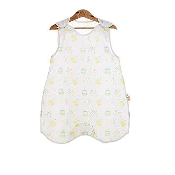 Amazon.com: Saco de dormir sin mangas suave para bebé, manta ...