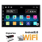Ezonetronics Android 6.0 Double Din Car Stereo with Navigation FM/AM Touch Screen Radio with Bluetooth GPS Navigation USB SD Mirro Link Player 1G DDR3 + 16G NAND Memory Flash