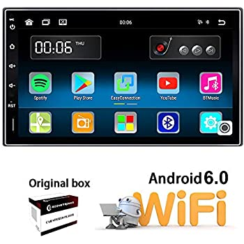 Ezonetronics Android 6.0 Double Din Car Stereo with Navigation FM/AM Touch Screen Radio with Bluetooth GPS Navigation USB SD Mirro Link Player 1G DDR3 + 16G ...
