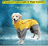 MASKOTA Dog Raincoats Waterproof Lightweight & High Visibility Full Range Sizes for Large Medium Small All Breeds Poncho Hoodies