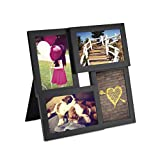 Umbra Pane 4-Opening Desktop Collage Frame, 4x6, Black