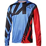 Fox Racing Demo Long-Sleeve Bike Jersey - Men's Blue/Red-Blue, XL