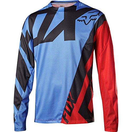 Fox Racing Demo Long-Sleeve Bike Jersey - Men's Blue/Red-Blue, XL by Fox Racing