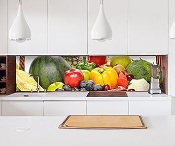Aufkleber Küchenrückwand Obst Früchte Korb Gesundheit Küche ...