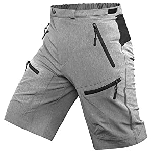 51jopcfLFLL. SS300 Cycorld Shorts da Mountain Bike da Uomo Shorts da Ciclismo MTB Pantaloni da Ciclismo Larghi con Tasche con Zip