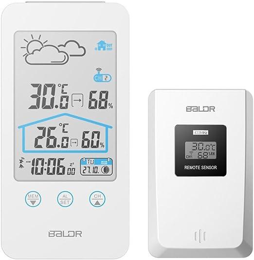 wentingZWT HTC-5 Termómetro e higrómetro Digital para Interior, termómetro, higrómetro, termómetro, Pantalla LCD Digital, termómetro e higrómetro: Amazon.es: Hogar
