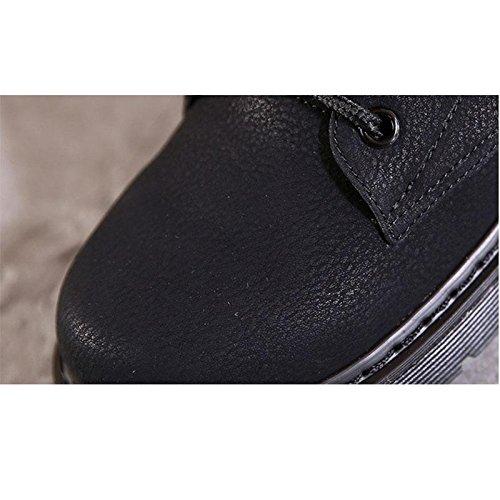 Black Black Black Donna Stivali Stivali Stivali Comodi e Stivali Stivali Piatti Caldi Gli da Invernali Sono 42 Casual 42 CHENGREN wfEg6qw