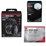 3M WorkTunes Connect Hearing Protector with Bluetooth Technology with Particulate N95 Respirator with Valve, 10-Pack and Eyeglass Protectors with Scratch Resistant Lens