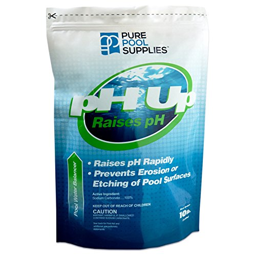 Pure Pool Supplies pH Up 10 Lbs. (pH Increaser pH Plus Soda Ash Sodium Carbonate) Pool Spa Balancer (Pool Water Ash Soda)