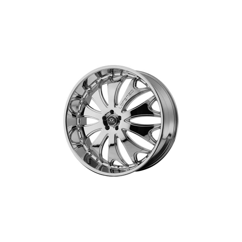 Lorenzo WL029 22x10 Chrome Wheel / Rim 5x112 with a 38mm Offset and a 72.60 Hub Bore. Partnumber WL02922056238 Automotive