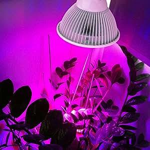 fsliving LED 12W luz de crecimiento growstar E26LED Grow plantas luz