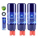 #8: Purneat 3-pack W10295370 Refrigerator Water Filter Replacement,Compatible with WhirlpoolW10295370,W10295370A,FILTER1,P4RFWB,W10276924,W10291030,KENMORE 46-9930,9930,300 Gallon Capacity,Push Button