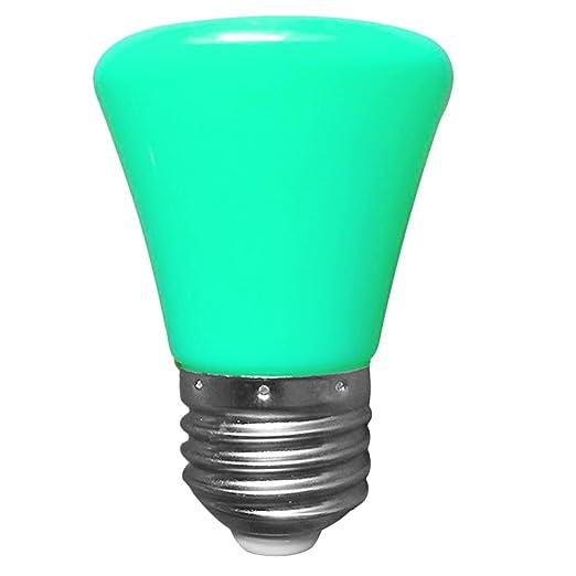 YouGer Mini 220V 1.5W E27 Lámpara de bombilla LED Lámpara de carcasa plana (Verde