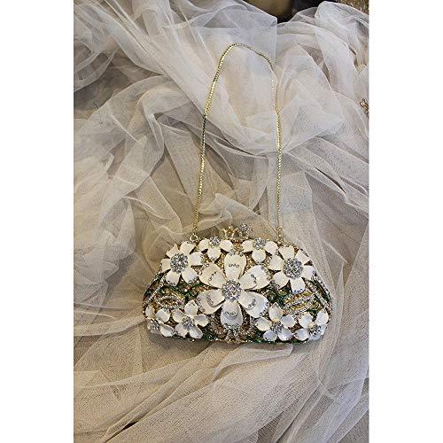 Fleur Bandoulière Joy Mariage Mariage Femmes discothèques Embrayages Miss À Soirée À De Blanc pour de Sac Party Strass Sac Prom Sac Main dIqxwaF