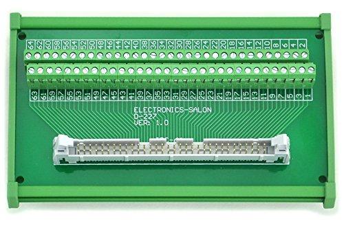 Electronics-Salon IDC-64 DIN Rail Mounted Interface Module, Breakout Board, Terminal Block.